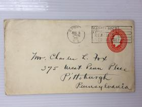 1931年8月8日加拿大(悉尼寄费城)早期3分邮资实寄封