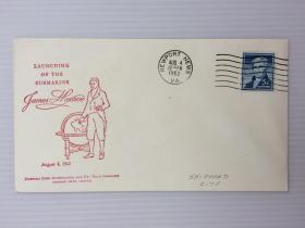 1962年8月4日美国(第五任总统詹姆斯·门罗)纪念封