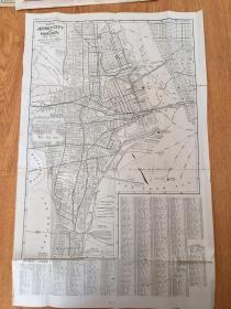【民国欧美地图2】1919年美国出版《泽西城和霍博肯/北哈德逊、新泽西Bayonne》两面印刷