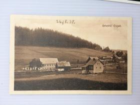 1930年8月26日德国(田野乡村小镇)明信片未使用(新)