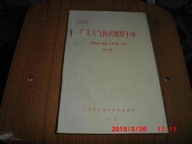 广东天气物候观察十年 1964-68 1973-77  (油印)