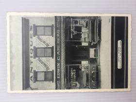 1940年3月27日美国(纽黑文古董店)实寄明信片贴早期邮票1枚
