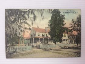 1925年8月26日美国(萨默维尔别墅)实寄明信片贴早期邮票1枚
