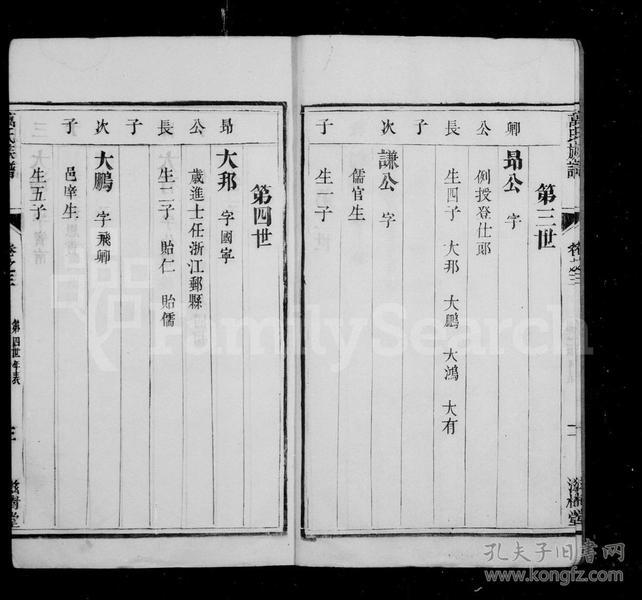 万氏家乘 [4卷]