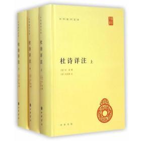 中华国学文库 杜诗详注(上中下)