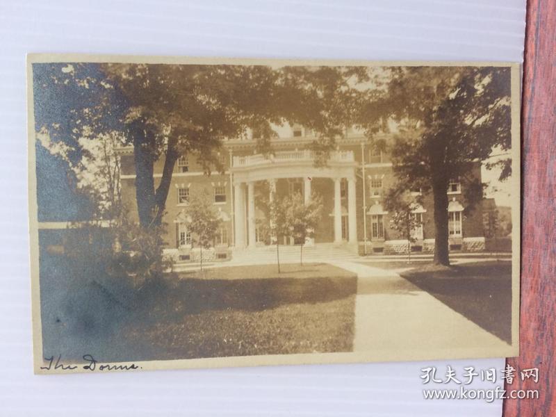 1920年左右美国(波尔特尼集体房)实寄明信片贴早期邮票1枚