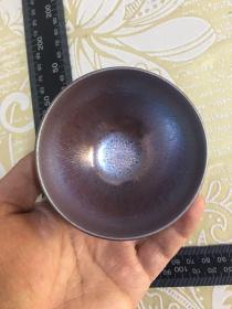 【紫金油滴铁胎】建盏茶杯、【完美】建阳窑原矿釉天目宋代品茗主人茶具碗,长宽指的是口径。(有落款,带证书)