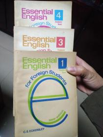 LONGMAN: Essential English 1-4 Students' Book for Foreign Students(含1981年购书发票一张)