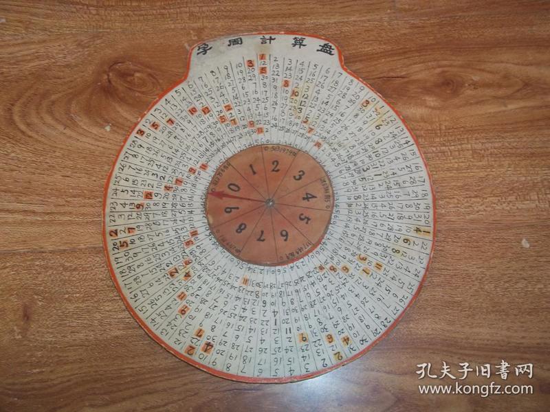 七八十年代老物件:孕周计算盘(圆形器具,非图书,少见)-医药卫