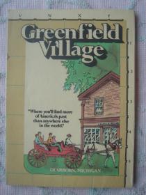 【旧地图】美国 格林菲尔德小镇 社区 村地图  大4开