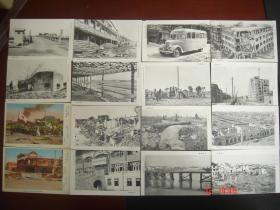 抗战证物之民国间日军发行邮政明信片上海战迹17张很稀见
