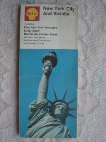 【旧地图】纽约大地图  大2开 1968年版