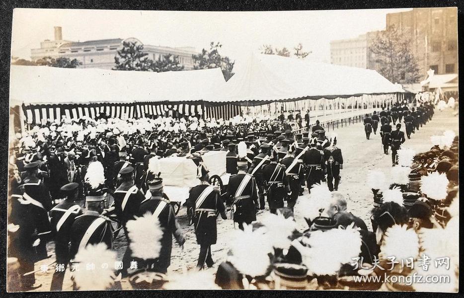东乡元帅的国葬 银盐老照片 现货包邮 稀见品 一口价