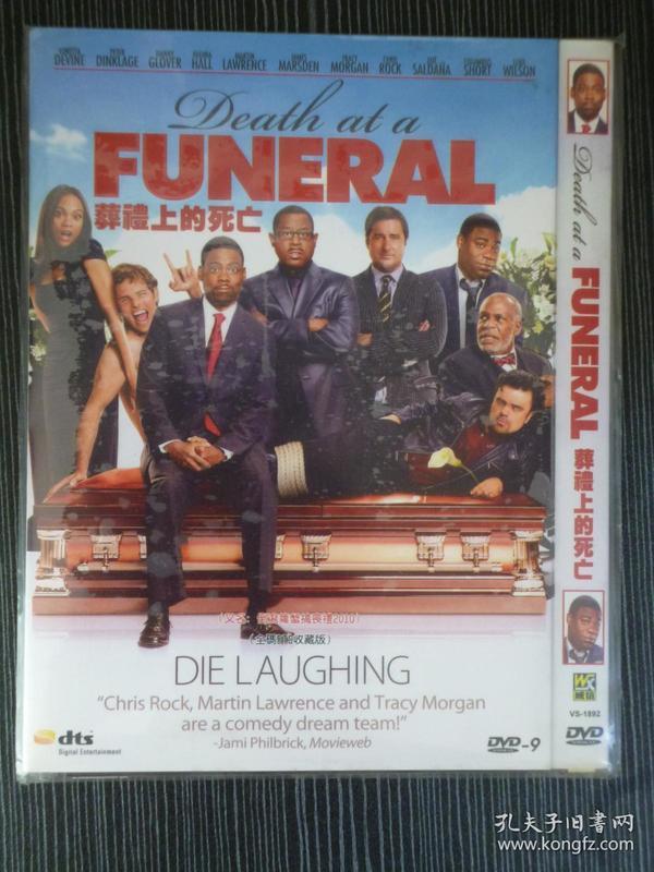 D9 葬礼上的死亡 Death at a Funeral 导演: 尼尔·拉布特 1碟 版本配置: 索尼1区版+3区官方中英韩泰全套字幕+完整花絮+OST