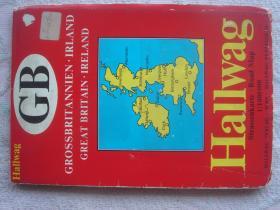 【旧地图】大不列颠 爱尔兰地图 一全开 1974年版
