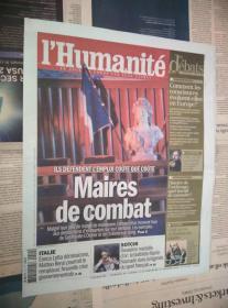 LHumanite 法国人道报 2014/02/16 NO.21359 外文原版过期旧报纸