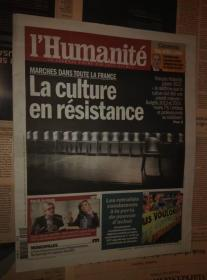 LHumanite 法国人道报 2014/03/12 NO.21377 外文原版过期旧报纸