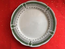 七八十年代瓷盘 景德镇老瓷盘 一对两件 中国景德镇 直径22.5cm