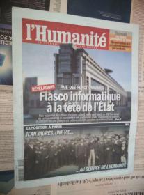 LHumanite 法国人道报 2014/03/10 NO.21375 外文原版过期旧报纸