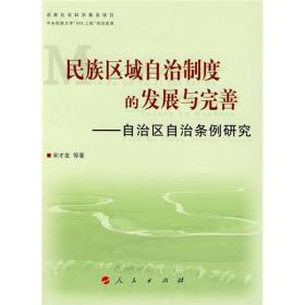 民族区域自治制度的发展与完善:自治区自治条例研究