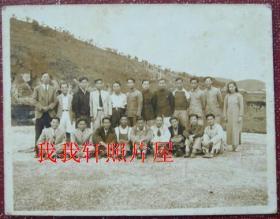 民国老照片:蒋宗文同学。有背题【陌上花开系列】