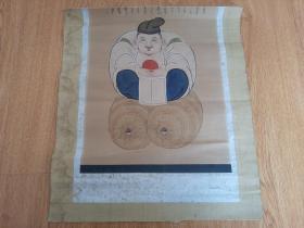 清晚期日本木版彩印《大黑天财神》一幅