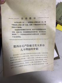 鸡西市无产阶级文化大革命几个问题的介绍  16开本!38页!!