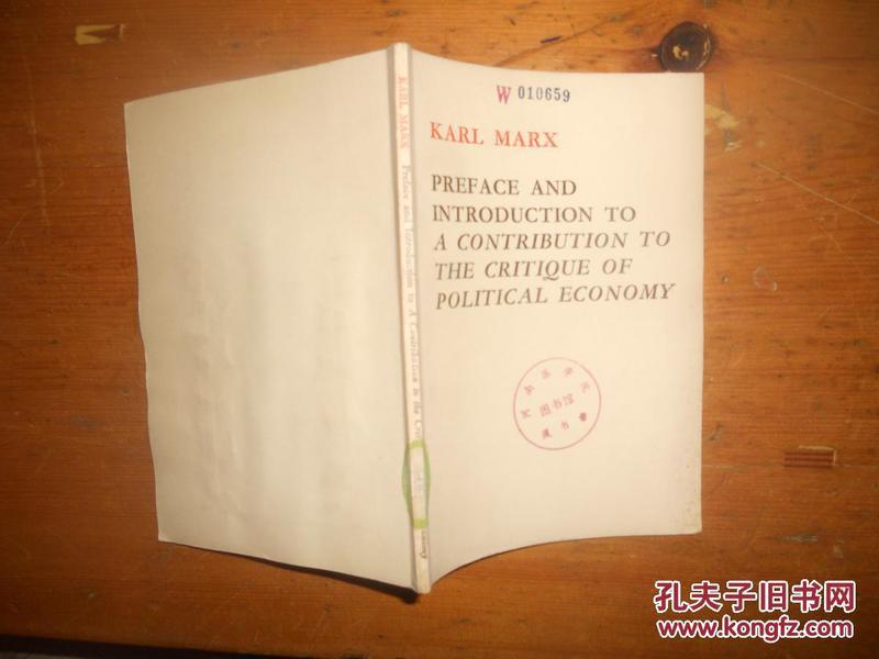 版 [ 马克思政治经济学批判序言,导言 ]-哲学心理学 英文书 外文原版