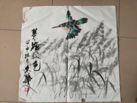 [3400朱华花鸟画4平尺  斗方