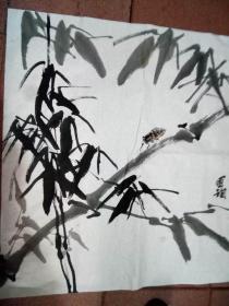 国珣国画(竹,蝉)