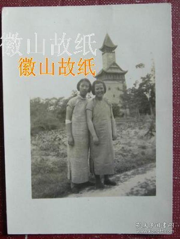 民国老照片:民国旗袍美女,国立四川大学