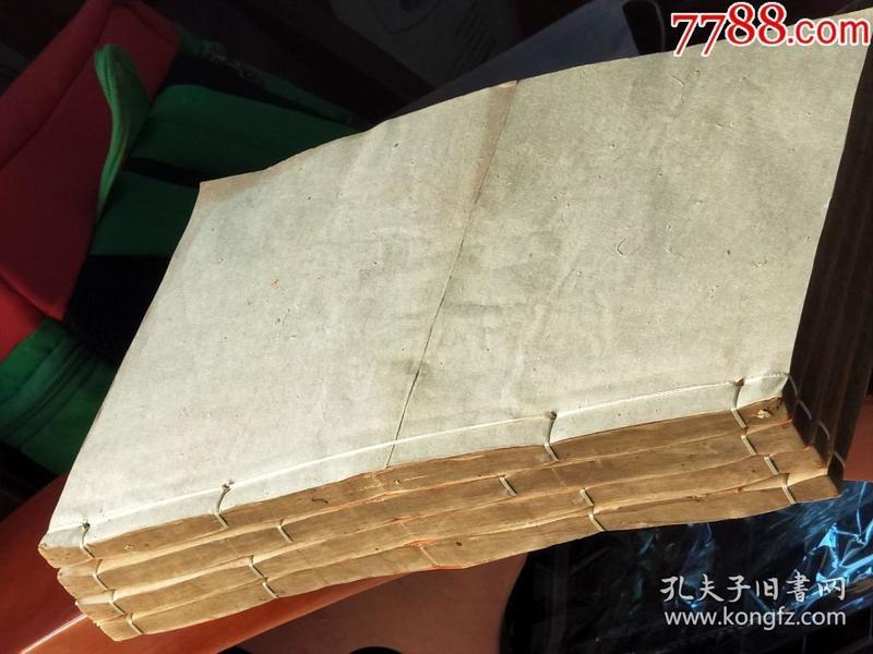 725大明精刻【王安石文钞】原装一函四册16卷一套全、尺寸25x16cm此书罕见、保老保真