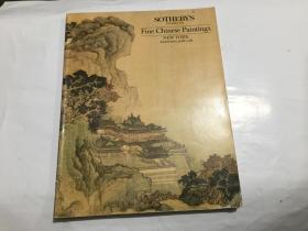 纽约苏富比1988年6月1日中国古代近现代书画专场拍卖图录