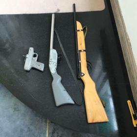 80后怀旧玩具 玩具枪 木质铁皮等等合售