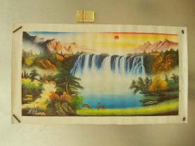 山水作品--尺寸为画心尺寸--纯手绘名家真迹--中国刀画协会副主席作品