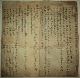 清代手抄大开本、【医方】、一册、小楷写得漂亮。