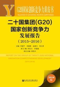 G20国家创新竞争力黄皮书:二十国集团(G20)国家创新竞争力发展报告(2015~2016)