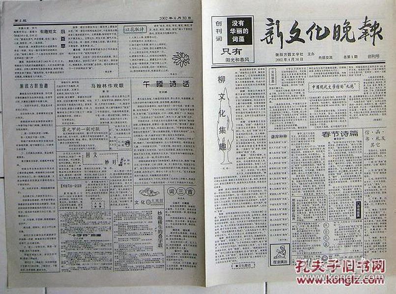 8919新文化晚报20020430创刊号