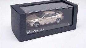 1:43德国原厂宝马BMW650iCoupe6系跑车合金汽车收藏(硬顶金色)