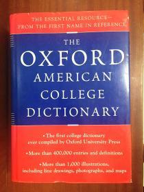 补图 外文书店库存全新无瑕疵 美国进口原装辞典 牛津大学英语词典(The Oxford American College Dictionary)