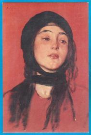 希腊年代版本未知【画家吉西斯作品_赌场的女子】明信片