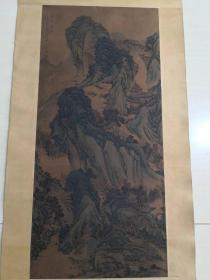 收来的名家王蒙山水画,尺寸42*90公分