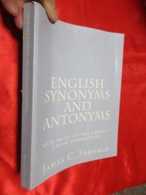 ENGLISH SYNONYMS AND ANTONYMS   【详见图】