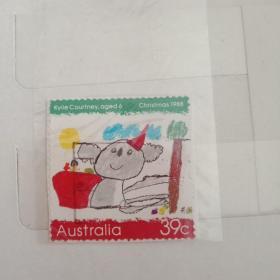 澳大利亚  邮票 儿童画