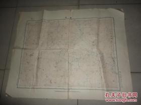 中华民国二十八年八月测图二十九年二月制版 福建省明溪县永安县沙县《巌前》地图一张 63CM*50CM
