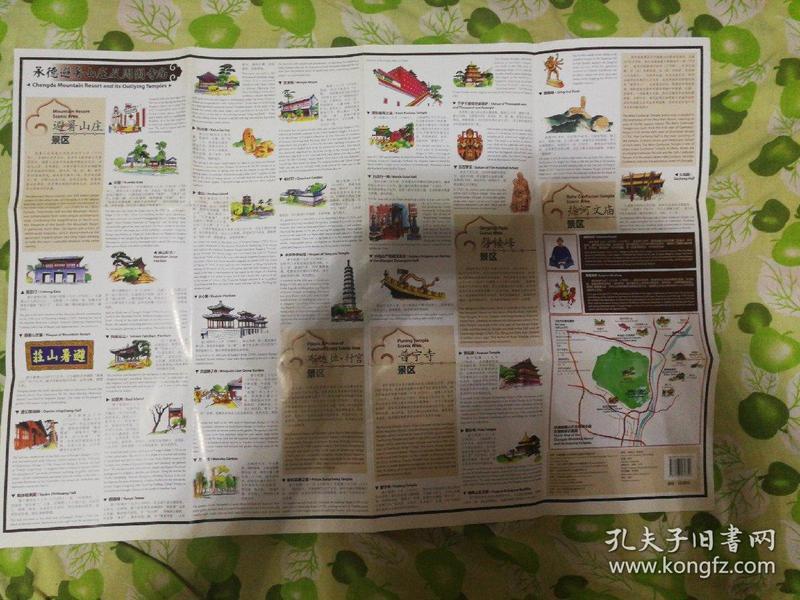地图:走进承德避暑山庄及周围寺庙(手绘风格)