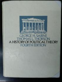 A histoey of political theory  (forth edition) 政治学说史 第四版 萨拜因
