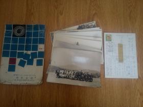 1950-1955年间日本小学校合影照片10张,附带一张实寄明信片