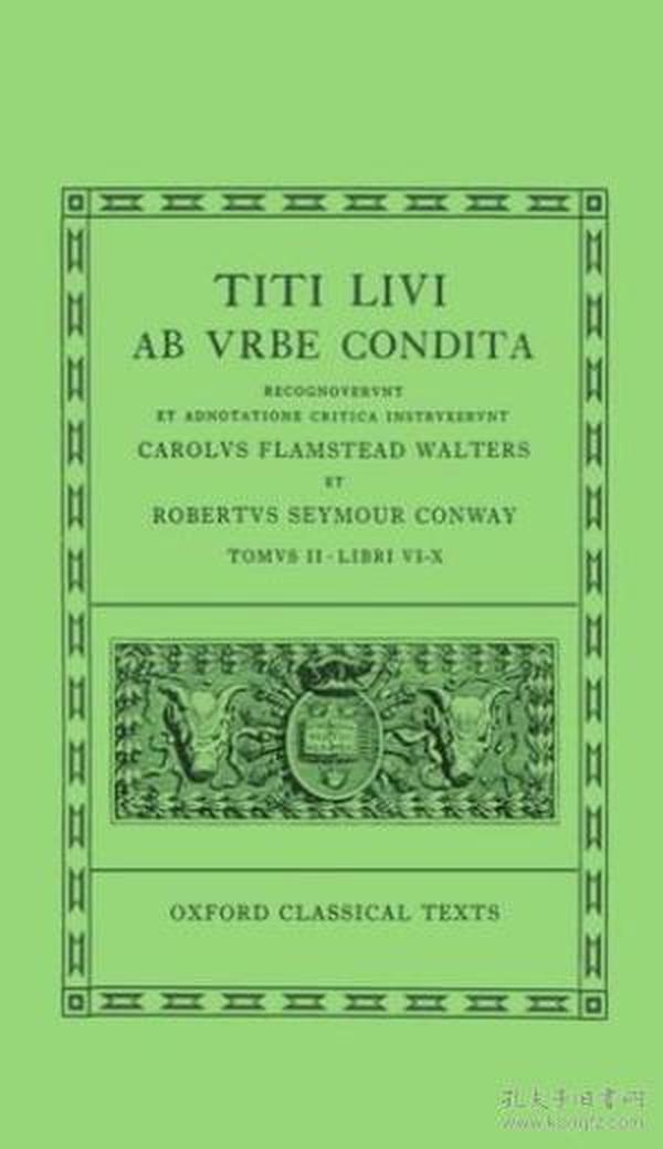 2: Ab Urbe Condita: Volume Ii: Books Vi-x (oxford Classical Texts)