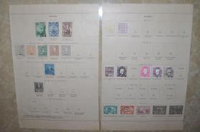 清代;一百多年前的 (珍稀)澳门古典实物邮票26张,贴页